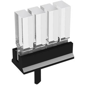 Lichtleiter, SMD, 4-fach 5mm, 3x2mm, stehend MENTOR 12.964.104