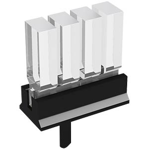 Light guide 4-way 10.5mm, 3x2mm, vertical MENTOR 12.964.124