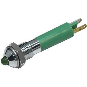 LED-Signalleuchte, 3mm, Außenrefl., 24V, grün FREI