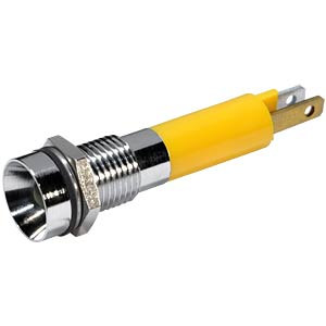 LED indicator, 5 mm, internal refl., 24 V AC/DC, IP64, yellow EBT OPTRONIC 19090352