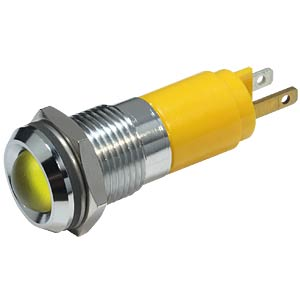 LED indicator, 10 mm, metallic refl., 24 V AC/DC, IP67, yellow EBT OPTRONIC 192A0352