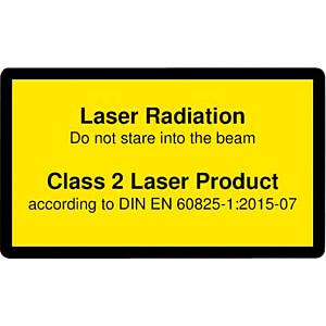 Laser warning label engl. DIN EN 60825, class 2, 38x23 mm, yello PICOTRONIC 70115024