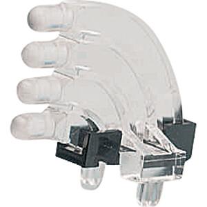 Lichtleiter, SMD, 4x1-fach, ø 3 mm, sphärisch, abgewinkelt MENTOR 12761004