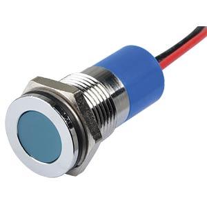 Signalleuchten LED, 24V DC, 14mm, Kabel, bl/BrC APEM Q14F3CXXB24E