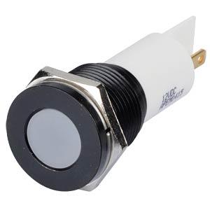 Indicator LED, 12 V DC, 16 mm, FASTON, white/BlC APEM Q16F1BXXW12E
