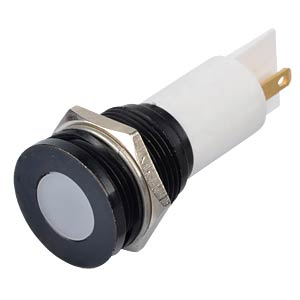 Indicator LED, 24 V DC, 16 mm, FASTON, white/BlC APEM Q16F1BXXW24E