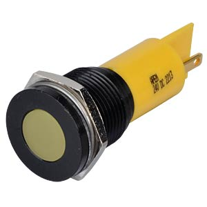 Indicator LED, 24 V DC, 16 mm, FASTON, yellow/BlC APEM Q16F1BXXY24E