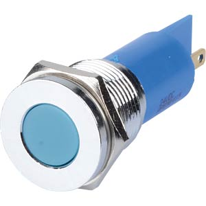 Indicator LED, 24 V DC, 16 mm, FASTON, blue/BrC APEM Q16F1CXXB24E
