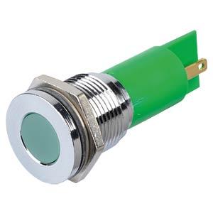 Indicator LED, 24 V DC, 16 mm, FASTON, green/BrC APEM Q16F1CXXG24E