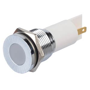 Indicator LED, 24 V DC, 16 mm, FASTON, white/BrC APEM Q16F1CXXW24E
