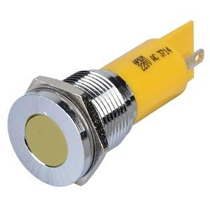 LED-Signalleuchte, gelb, 220 V, Ø 16 mm, bündig, FASTON APEM Q16F1CXXY220E