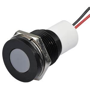 Signalleuchten LED, 24V DC, 16mm, Kabel, wieß/BlC APEM Q16F3BXXW24E