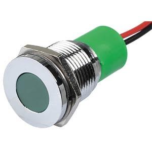 LED-Signalleuchte, grün, 220 V, Ø 16 mm, bündig, bedrahtet APEM Q16F3CXXG220E