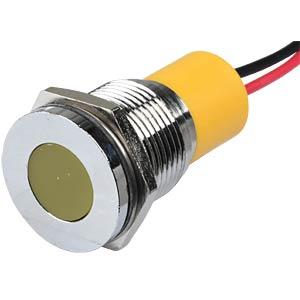 Signalleuchten LED, 24V DC, 16mm, Kabel, ge/BrC APEM Q16F3CXXY24E