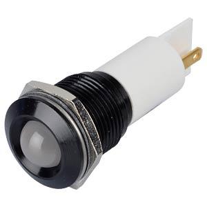LED-Signalleuchte, weiß, 12 V, Ø 16 mm, vorstehend, FASTON APEM Q16P1BXXW12E