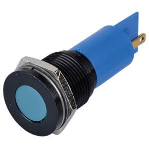 Indicator LED, 24 V DC, 16 mm, FASTON, blue/BrC APEM Q16P1CXXB24E