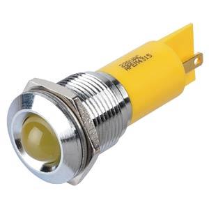 LED-Signalleuchte, gelb, 220 V, Ø 16 mm, vorstehend, FASTON APEM Q16P1CXXY220E