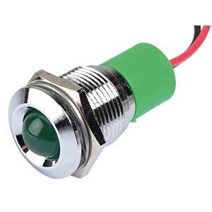 LED-Signalleuchte, grün, 12 V, Ø 16 mm, vorstehend, bedrahtet APEM Q16P3CXXG12E
