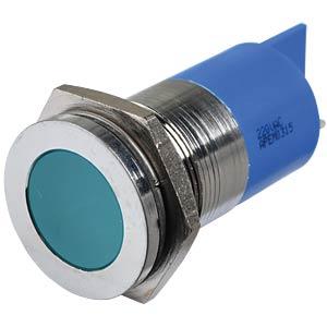LED-Signalleuchte, blau, 220 V, Ø 22 mm, bündig, FASTON APEM Q22F1CXXB220E