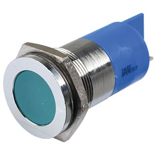 Indicator LED, 24 V DC, 22 mm, FASTON, blue/BrC APEM Q22F1CXXB24E