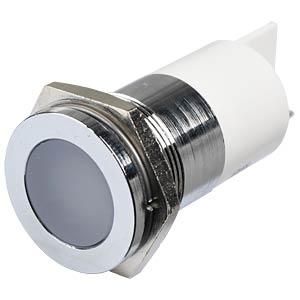 LED-Signalleuchte, weiß, 12 V, Ø 22 mm, bündig, FASTON APEM Q22F1CXXW12E