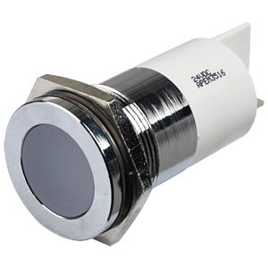 Indicator LED, 24 V DC, 22 mm, FASTON, white/BrC APEM Q22F1CXXW24E