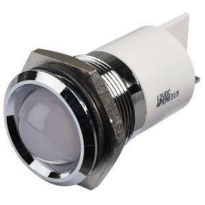 LED-Signalleuchte, weiß, 12 V, Ø 22 mm, vorstehend, FASTON APEM Q22P1CXXW12E
