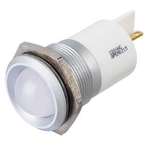LED-Signalleuchte, weiß, 220 V, Ø 22 mm, vorstehend, FASTON APEM Q22P1GXXW220E