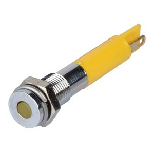 Indicator LED, 24 V DC, 6 mm, FASTON, yellow/BrC APEM Q6F1CXXY24E