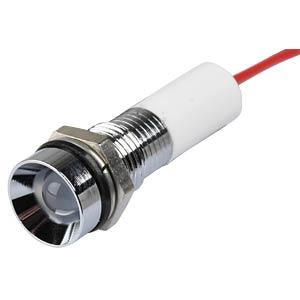 Signalleuchten LED, 24V DC, 8mm, Kabel, ws/BrC APEM Q8R3CXXW24E
