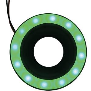 LED-Signalring, Ø22/55 mm, grün, schwarz, matt, IP67 APEM QH22L27GC