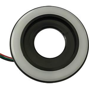 LED-Signalring, Ø22/55 mm, rot/grün, schwarz, matt, IP54 APEM QH22L27RG