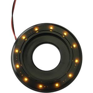 LED-Signalring, Ø22/55 mm, gelb, schwarz, klar, IP67 APEM QH22L28YC