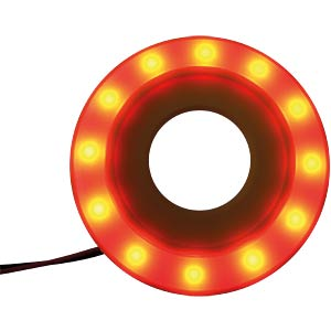 LED-Signalring, Ø22/55 mm, rot, gelb, matt, IP54 APEM QH22L57R