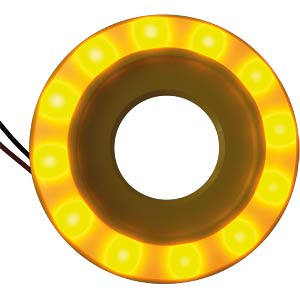 LED-Signalring, Ø22/55 mm, gelb, gelb, matt, IP67 APEM QH22L57YC