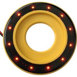 LED-Signalring, Ø22/55 mm, rot, gelb, klar, IP67 APEM QH22L58RC