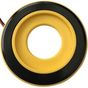 LED-Signalring, Ø22/55 mm, gelb, gelb, klar, IP67 APEM QH22L58YC