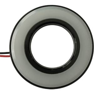 LED-Signalring, Ø19/38,5 mm, rot, schwarz, matt, IP67 APEM QH19027RC
