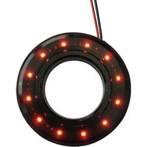 LED-Signalring, Ø16/35,5 mm, rot, schwarz, klar, IP67 APEM QH16028RC
