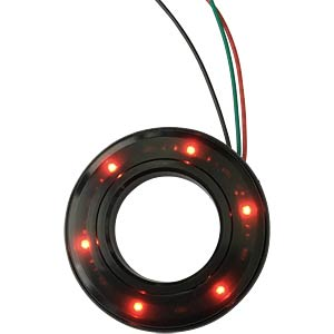 LED-Signalring, Ø16/35,5 mm, rot/grün, schwarz, klar, IP67 APEM QH16028RGC