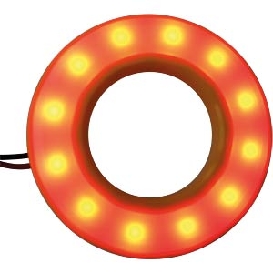 LED-Signalring, Ø19/38,5 mm, rot, gelb, matt, IP54 APEM QH19057R