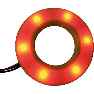 LED-Signalring, Ø22/42 mm, rot/grün, gelb, matt, IP67 APEM QH22057RGC