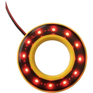 LED-Signalring, Ø16/35,5 mm, rot, gelb, klar, IP67 APEM QH16058RC