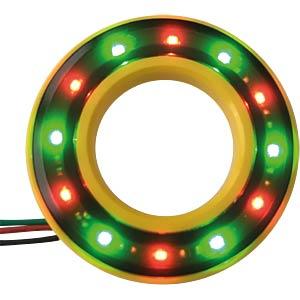 LED-Signalring, Ø22/42 mm, rot/grün, gelb, klar, IP67 APEM QH22058RGC