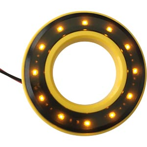 LED-Signalring, Ø22/42 mm, gelb, gelb, klar, IP67 APEM QH22058YC