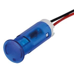 LED-Signalleuchte, blau, 220 V, Ø 10 mm, rund, bedrahtet APEM QS103XXHB220