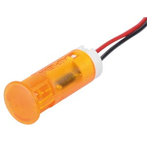 Indicator LED, 220 V AC, 10 mm, wired, orange APEM QS103XXHO220