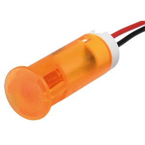 Signalleuchten LED, 24V DC, 10mm, Kabel, orange APEM QS103XXO24