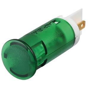 Indicator LED, 12 V DC, 12 mm, FASTON, green APEM QS121XXG12
