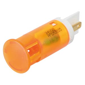 LED-Signalleuchte, orange, 24 V, Ø 12 mm, rund, FASTON APEM QS121XXO24